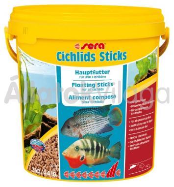 Sera Cichlids Sticks (vödrös) 2 kg/ 10 literes