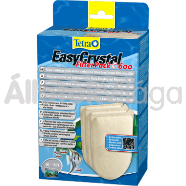 Tetra EasyCrystal FilterPack C 600 aktívszenes pótszivacs 3 db-os