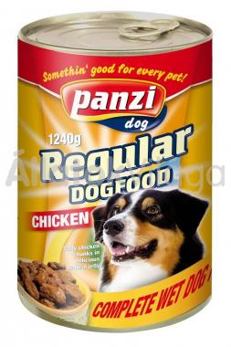 Panzi Regular DogFood Chicken csirkés konzerv kutyaeledel 1240 g-os