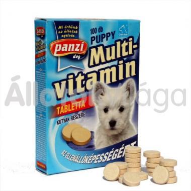 Panzi Cani-tab Puppy Multivitamin tabletta kölyök kutyáknak 100 db-os