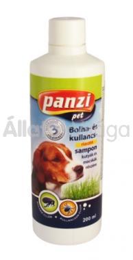 Panzi Bolha- és kullancsriasztó sampon kutyáknak 200 ml-es