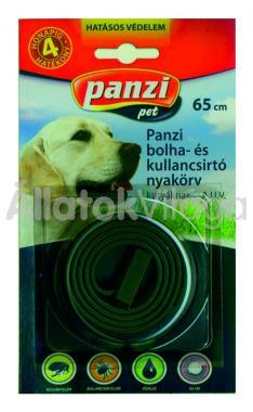 Panzi Bolha- és kullancsirtó nyakörv kutyáknak 65 cm-es bliszteres fekete