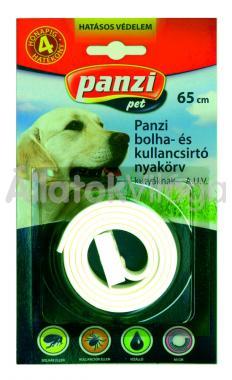 Panzi Bolha- és kullancsirtó nyakörv kutyáknak 65 cm-es bliszteres fehér