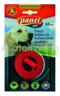 Panzi Bolha- és kullancsirtó nyakörv kutyáknak 65 cm-es bliszteres piros