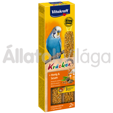 Vitakraft Kräcker méz & szezámmag hullámos papagájnak 2 db-os