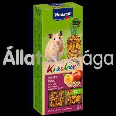 Vitakraft Kräcker gyümölcs & zabpehely aranyhörcsögnek 2 db-os