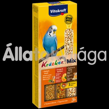 Vitakraft Kräcker TrioMix méz&szezám + narancs&sárgabarack + PopCorn&méz hullámos papagájnak 3 db-os