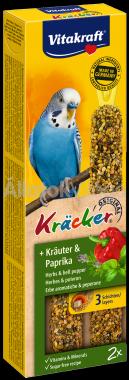 Vitakraft Kräcker gyógynövény & paprika hullámos papagájnak 2 db-os