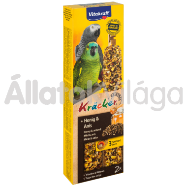 Vitakraft Kräcker méz & ánizs papagájoknak 2 db-os