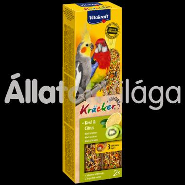 Vitakraft Kräcker kiwi & citrom nagypapagájnak 2 db-os