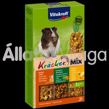 Vitakraft Kräcker TrioMix citrom&narancs + zöldség&cékla + méz&tönköly tengerimalacnak 3 db-os