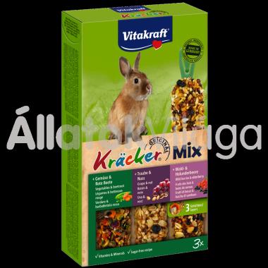 Vitakraft Kräcker TrioMix zöldség&cékla + szőlő&mogyoró + erdeigyümölcs&bodza törpenyúlnak 3 db-os