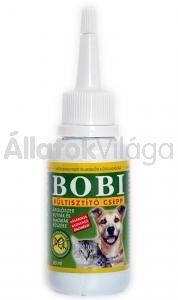 Bobi fültisztító csepp kutyának - macskáknak 60 ml-es