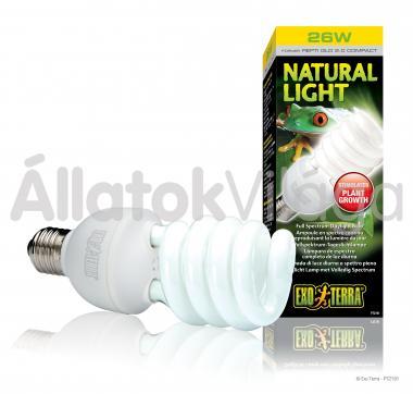 Exo-Terra Natural Light (Repti Glo 2.0) E27 kompakt fénycső 25 W-os PT2191