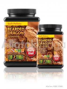 Exo-Terra Bearded Dragon Juvenile Food kölyök szakállas agáma eledel 250 g-os PT3230