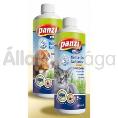 Panzi Bolha- és kullancsriasztó sampon macskáknak 200 ml-es