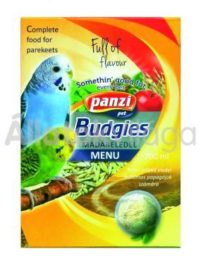 Panzi Budgies hullámos papagáj eledel 700 ml-es