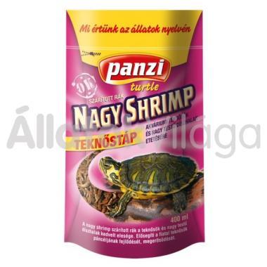 Panzi Nagy shrimp teknőstáp 400 ml-es zacskós