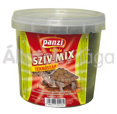 Panzi Szív-mix teknőstáp 1 literes vödrös