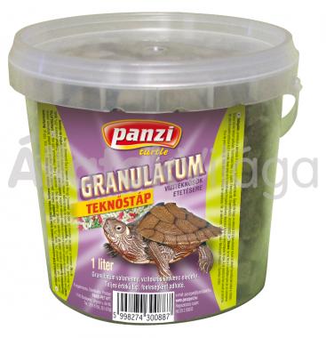 Panzi Granulátum teknőstáp 1 literes vödrös