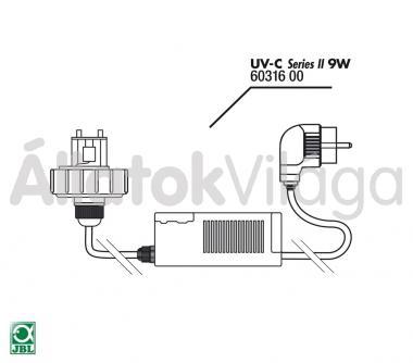 JBL elektromos szett UV-C UV-szűrő 9 W-oshoz 60316
