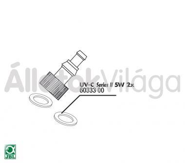 JBL tömítő gyűrű cső csatlakozóhoz UV-C UV-szűrő 5 W-oshoz 2 db-os 60333