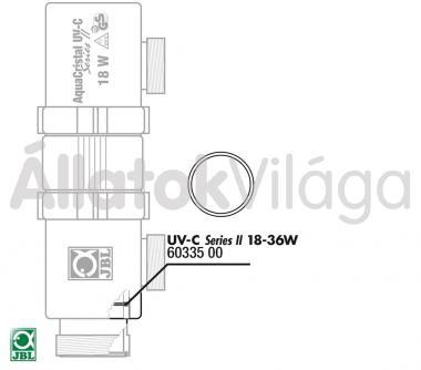 JBL tömítő gyűrű UV-C UV-szűrő 18/36 W-oshoz 2 db-os 60335