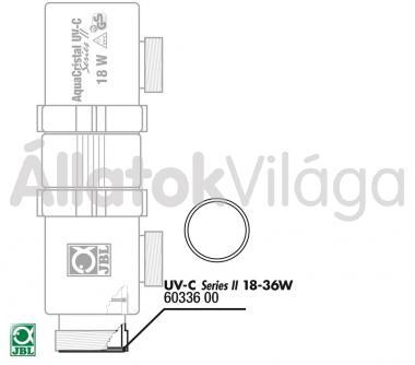 JBL tömítő gyűrű UV-C UV-szűrő 18/36 W-oshoz 60336