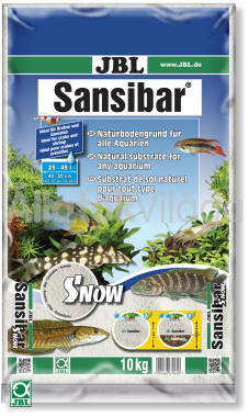 JBL Sansibar akvárium talaj snow - hófehér 10 kg-os 25-45 literig