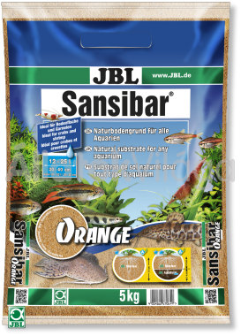 JBL Sansibar akvárium talaj orange - narancs 5 kg-os 12-25 literig