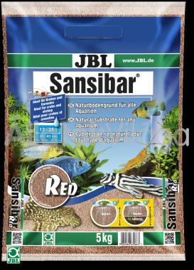 JBL Sansibar akvárium talaj red - vörös 5 kg-os 12-25 literig
