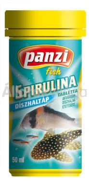 Panzi Spirulina tablettás díszhaltáp 50 ml-es