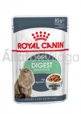 RoyalCanin Digest Sensitive Care Gravy érzékeny gyomrú macskáknak szószos alutasakos eldel 85 g-os