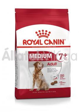 RoyalCanin Medium Adult-felnőtt 7+ idős kutyaeledel 4 kg-os