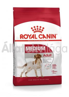 RoyalCanin Medium Adult-felnőtt kutyaeledel száraz 15 kg-os