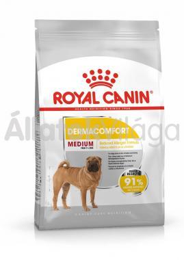 RoyalCanin Medium Dermacomfort kutyaeledel száraz 3 kg-os