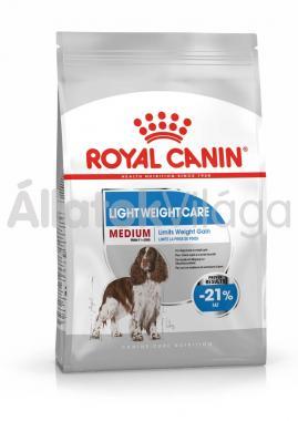 RoyalCanin Medium Light Weight Care kutyaeledel száraz 13 kg-os