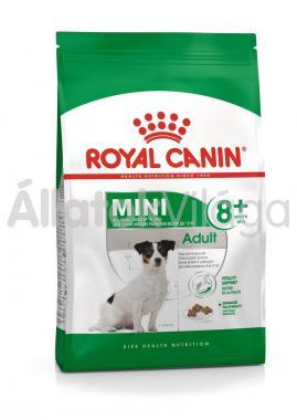 RoyalCanin Mini Adult 8+ idős kutyaeledel 800 g-os