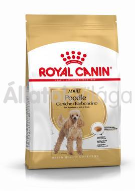 RoyalCanin Poodle (uszkár) Adult-felnőtt kutyaeledel száraz 1,5 kg-os