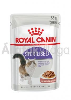 RoyalCanin Sterilised Gravy ivartalanított macskáknak szószos alutasakos eldel 85 g-os