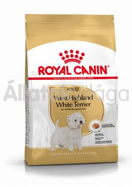 RoyalCanin West Highland White Terrier Adult-felnőtt kutyaeledel száraz 3 kg-os
