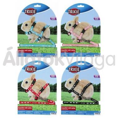 Trixie textil póráz+hám mintás nyúlnak 6265