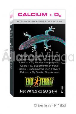 Exo-Terra Calcium + D3 kalcium + D3 vitamin por 90 g-os PT1856