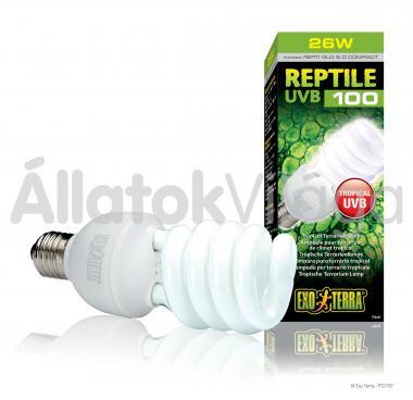 Exo-Terra Reptile UVB 100 (Repti Glo 5.0) E27 kompakt fénycső 25 W-os PT2187