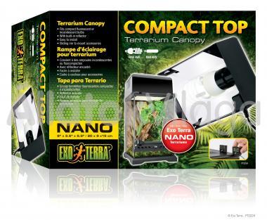 Exo-Terra Compact Top Nano armatúra 1 db E27-es foglalattal 20x9x15 cm-es PT2224
