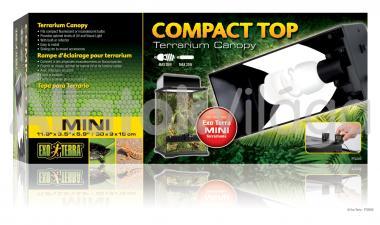 Exo-Terra Compact Top Mini armatúra 1 db E27-es foglalattal 30x9x15 cm-es PT2225
