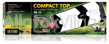 Exo-Terra Compact Top Medium armatúra 3 db E27-es foglalattal 60x9x20 cm-es PT2227