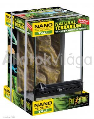 Exo-Terra Natural Terrarium Nano/Tall terrárium nano/magas 20x20x30 cm-es PT2601