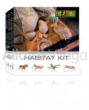 Exo-Terra Habitat Kit Desert Small sivatagi élőhely szett 30x30x30 cm-es PT2650