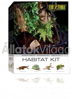 Exo-Terra Habitat Kit Rainforest Medium esőerdei élőhely szett 45x45x60 cm-es PT2662